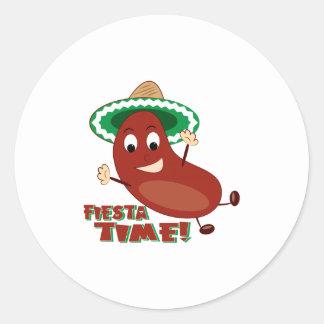 Fiesta Time Round Stickers