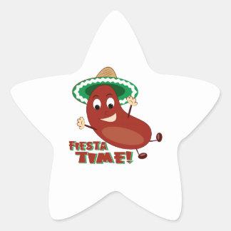 Fiesta Time Star Stickers
