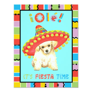 Fiesta Toy Poodle Card