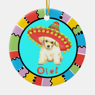 Fiesta Toy Poodle Christmas Ornament