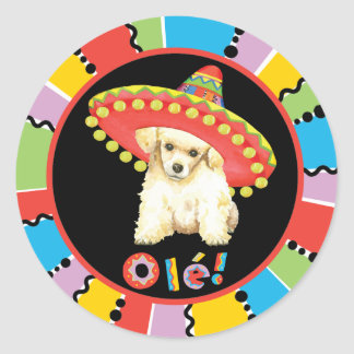 Fiesta Toy Poodle Classic Round Sticker