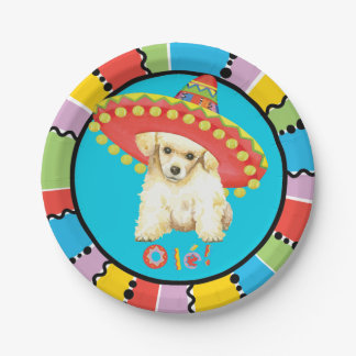Fiesta Toy Poodle Paper Plate