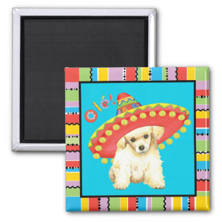 Fiesta Toy Poodle Square Magnet