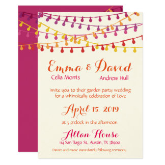 Fiesta Wedding Invitation Colorful Mexican Party