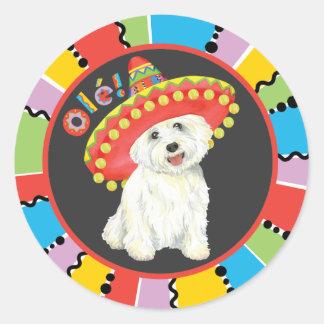 Fiesta Westie Classic Round Sticker
