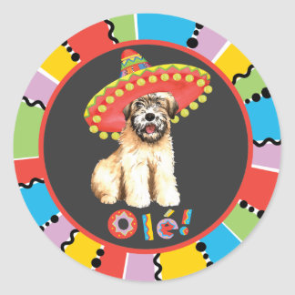 Fiesta Wheaten Round Sticker