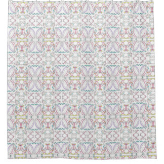 Fiesta-Whimsical Geometric Pattern Shower Curtain