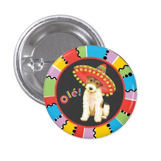 Fiesta Wire Fox Terrier 3 Cm Round Badge