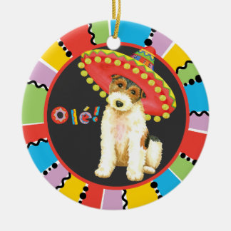 Fiesta Wire Fox Terrier Christmas Ornament