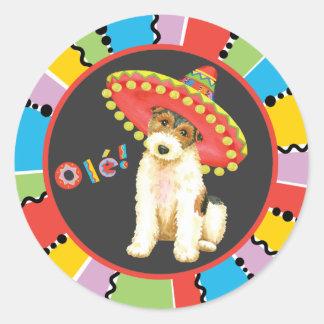 Fiesta Wire Fox Terrier Round Sticker