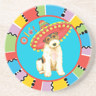 Fiesta Wire Fox Terrier Sandstone Coaster