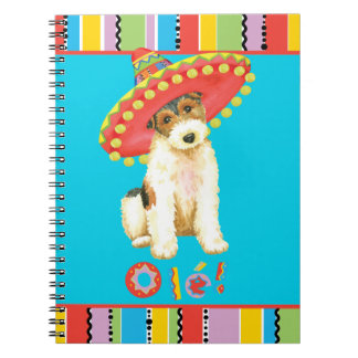 Fiesta Wire Fox Terrier Spiral Notebook