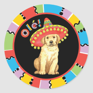 Fiesta Yellow Lab Classic Round Sticker