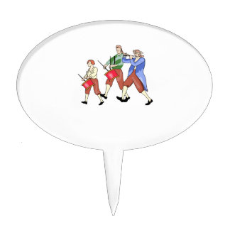 FIFE AND DRUM BAND CAKE TOPPER