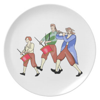 FIFE AND DRUM BAND DINNER PLATE