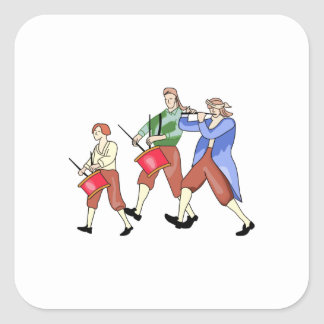 FIFE AND DRUM BAND SQUARE STICKER