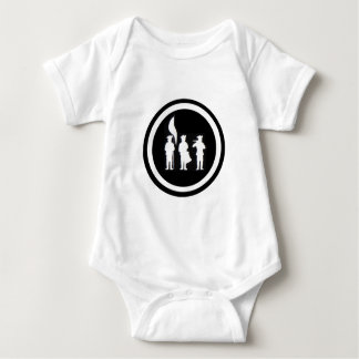 Fife and Drum Corps Silhouette Apparel Baby Bodysuit