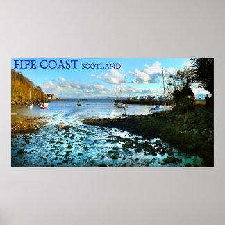 fife coast scotland poster