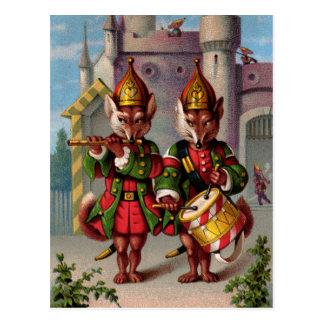 Fife & Drum Foxes Postcard