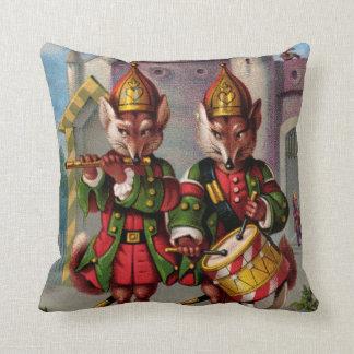 Fife & Drum Foxes Throw Pillow