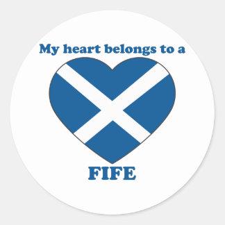 Fife Round Sticker