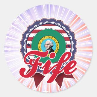 Fife, WA Round Stickers