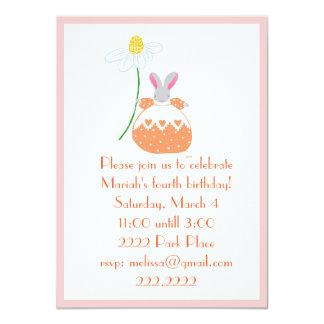 Fifi  Bunny in orange invitaion 11 Cm X 16 Cm Invitation Card