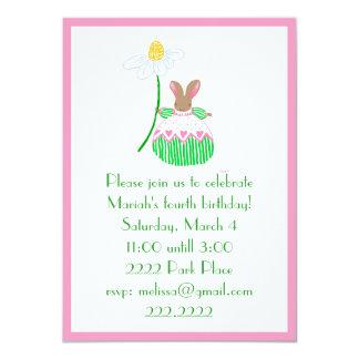 Fifi  Bunny invitaion 11 Cm X 16 Cm Invitation Card