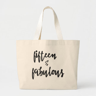 Fifteen & Fabulous  Quinceanera 15th Birthday Tote