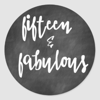 Fifteen & Fabulous - Quinceanera Stickers