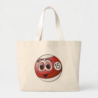 Fifteen Pool Ball Cartoon Jumbo Tote Bag