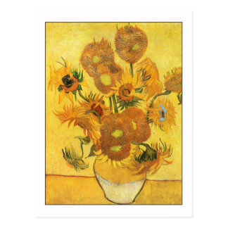 Fifteen Sunflowers by Van Gogh Postcard