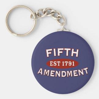 Fifth Amendment Est 1791 Basic Round Button Key Ring