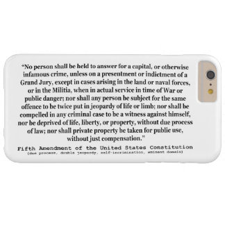 Fifth Amendment to the United States Constitution Barely There iPhone 6 Plus Case