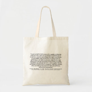 Fifth Amendment to the United States Constitution Budget Tote Bag