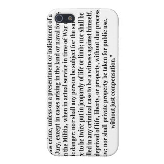 Fifth Amendment to the United States Constitution Case For The iPhone 5