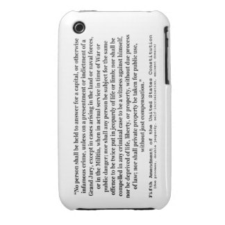 Fifth Amendment to the United States Constitution iPhone 3 Case-Mate Case