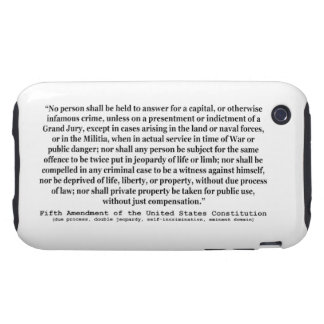 Fifth Amendment to the United States Constitution iPhone 3 Tough Covers