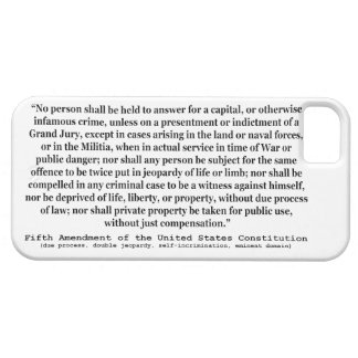 Fifth Amendment to the United States Constitution iPhone 5 Case