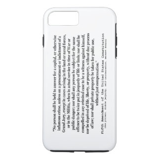 Fifth Amendment to the United States Constitution iPhone 7 Plus Case