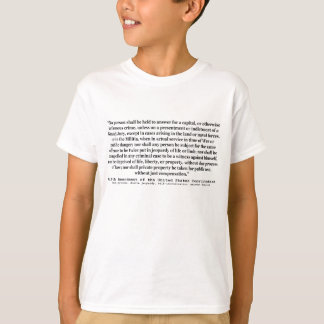 Fifth Amendment to the United States Constitution Shirt