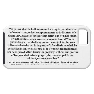 Fifth Amendment to the United States Constitution Tough iPhone 5 Case