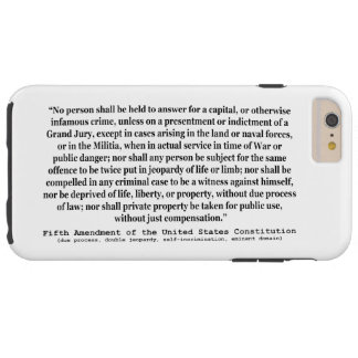 Fifth Amendment to the United States Constitution Tough iPhone 6 Plus Case