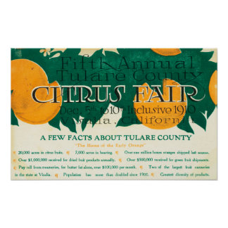 Fifth Annual Tulare County Citrus Fair Promotion Poster