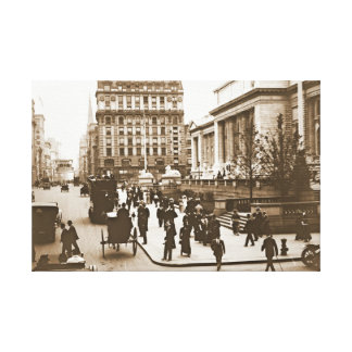 Fifth Avenue and New York City Public Library 1908 Canvas Prints