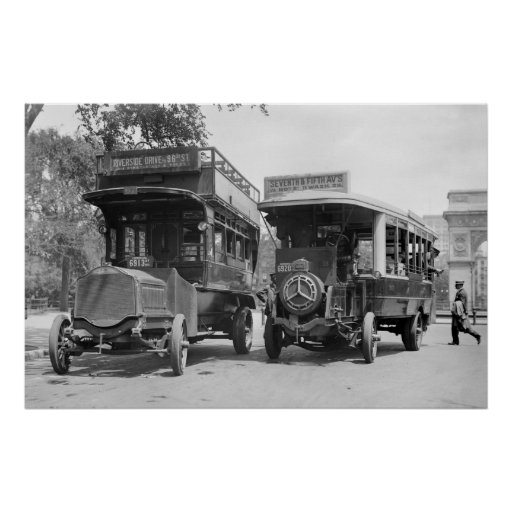 Fifth Avenue Buses, 1913 Print