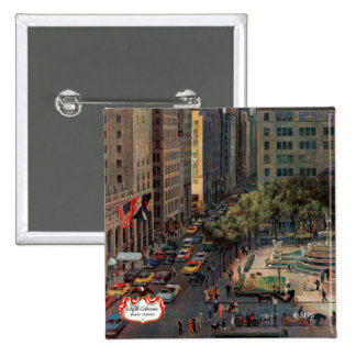 Fifth Avenue by John Falter 15 Cm Square Badge