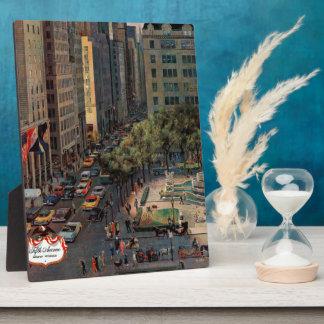 Fifth Avenue by John Falter Plaque