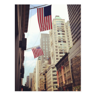 Fifth Avenue Flags NYC Postcards
