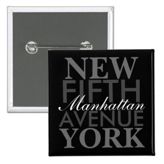 Fifth Avenue New York 15 Cm Square Badge